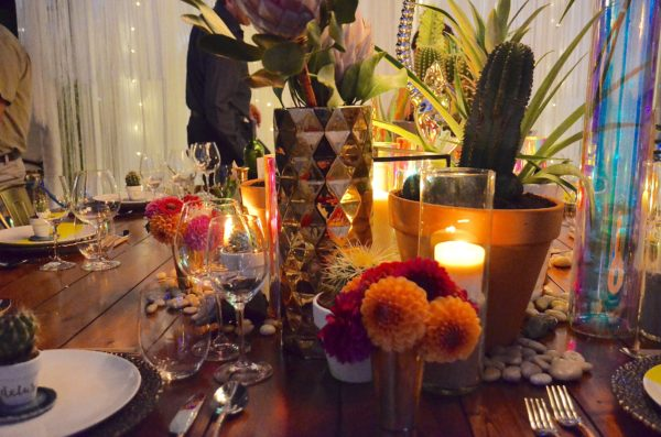 A vibrant table at Dinner by Design - photo by Cathy Browne