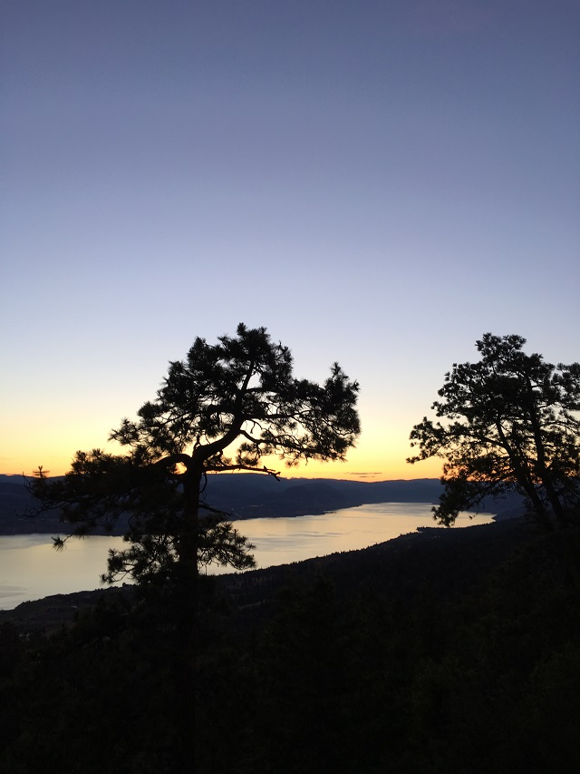 Sun sets over Okanagan Lake on a most amazing experience