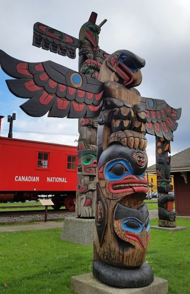 The Feast Totem Pole in Duncan BC