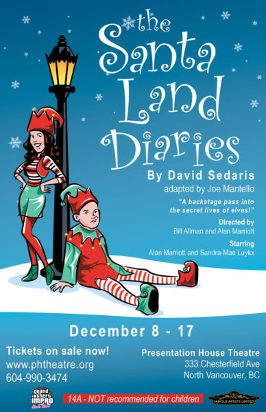 the santaland diaries show poster final the santaland diaries author david sedaris - David Sedaris Christmas