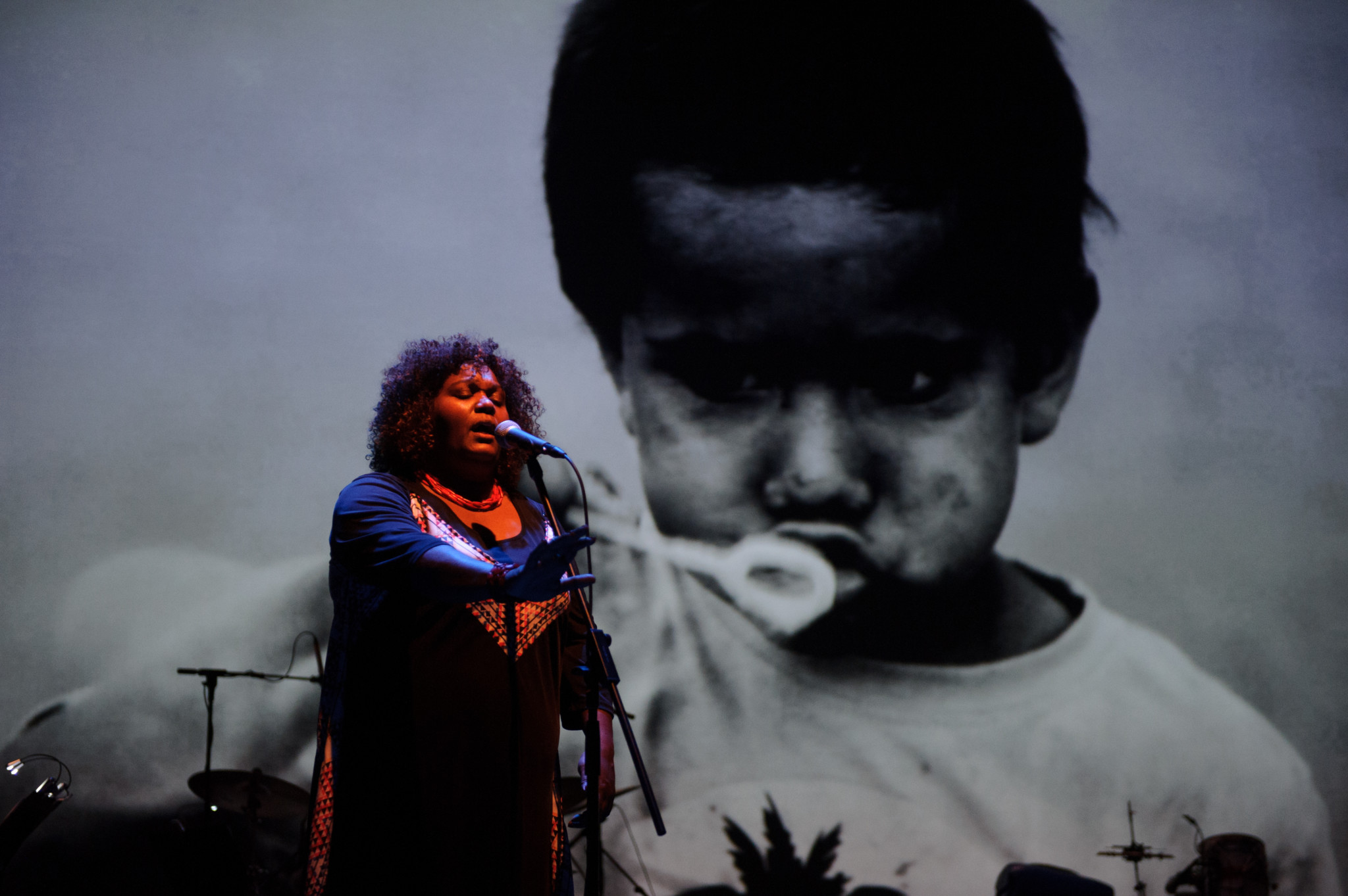 Australia's Indigenous Rhythms and Cultural Roots Illuminated  in Multimedia Concert Spectacle:  – dirtsong –