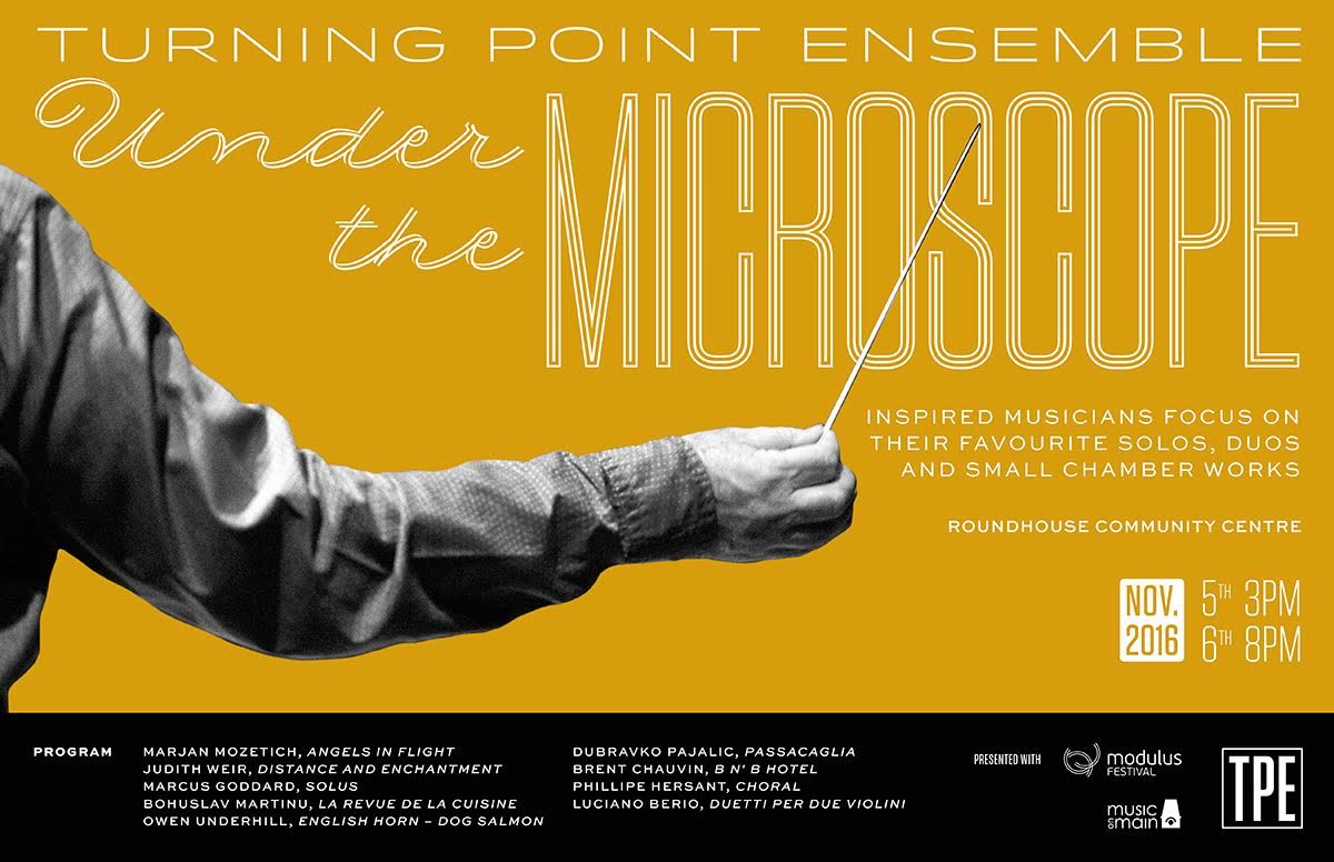 Turning Point Ensemble  presents   UNDER THE MICROSCOPE