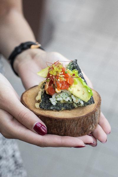 Salmon Nori Taco credit Leila Kwok