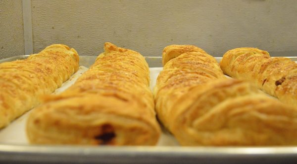 Apple strudel fresh out of the oven rounded out Alison Ramage's menu at Save-On Meats - photo by Cathy Browne