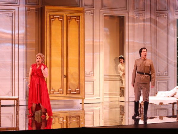 The Marriage of Figaro - the Countess, Susanna and the Count. Photo by Tim Matheson.