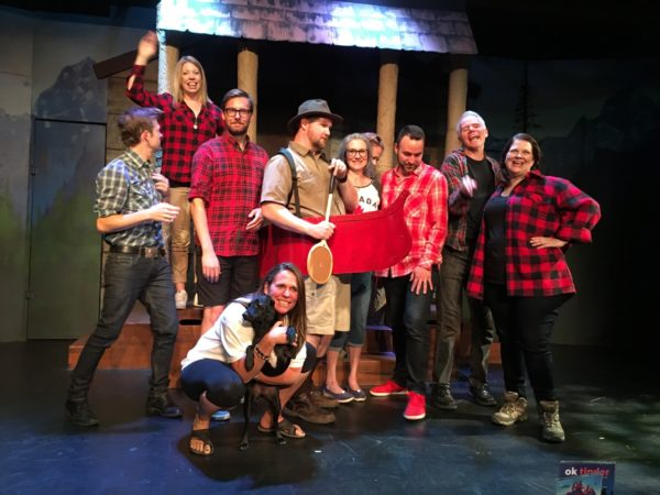 The talented cast of Oh, Canada - the True North Strong and Funny. Photo by Cathy Browne