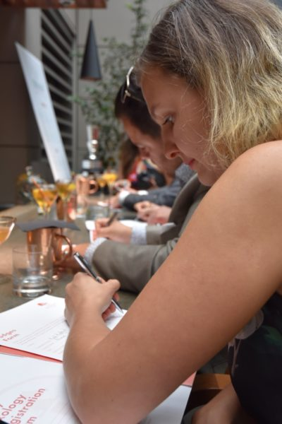 The Deighton Cup Cocktail Jockey judges hard at work - photo by Cathy Browne