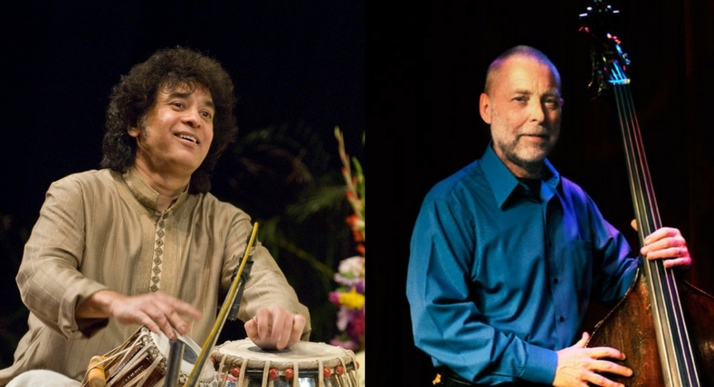 The Chan Centre presents Tabla Master Zakir Husain with  Esteemed Jazz Bassist Dave Holland in Crosscurrents