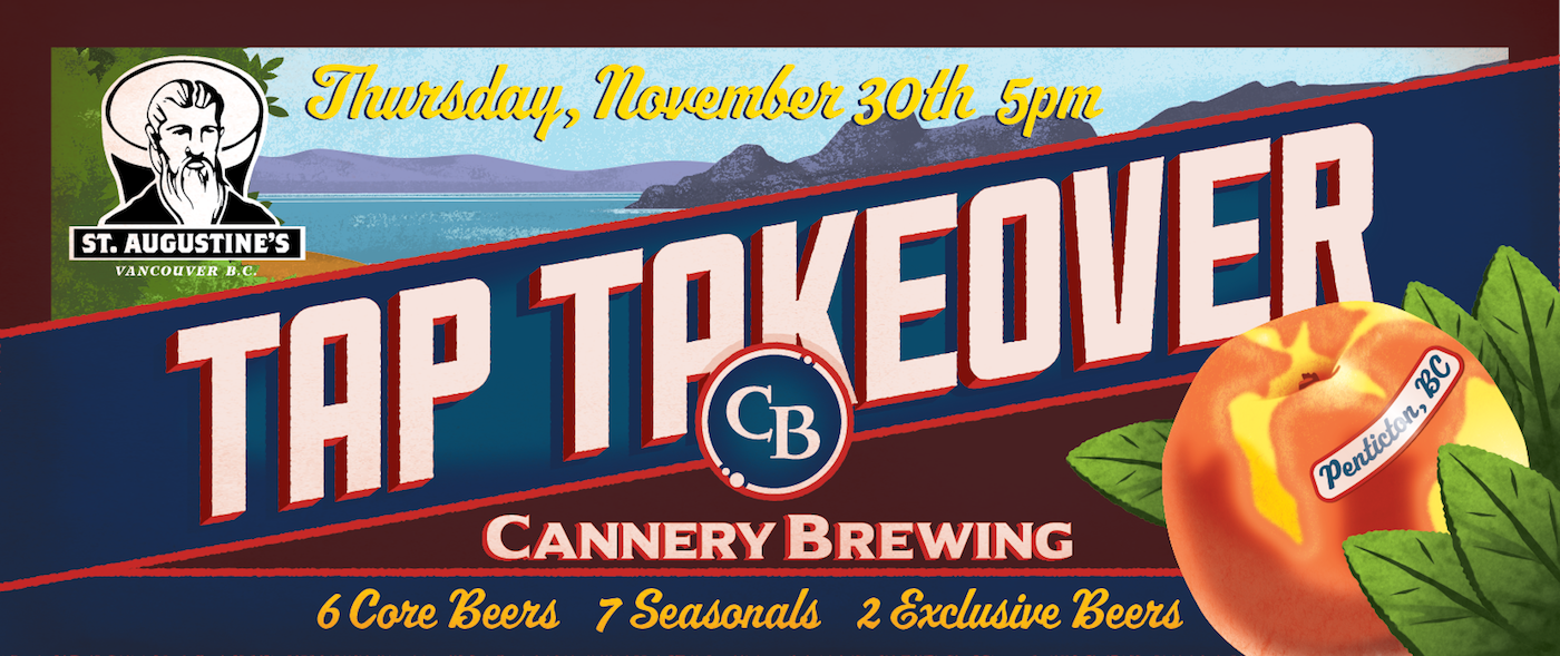 Cannery Brewing Tap Takeover at St. Augustine's in Vancouver (Nov. 30th)
