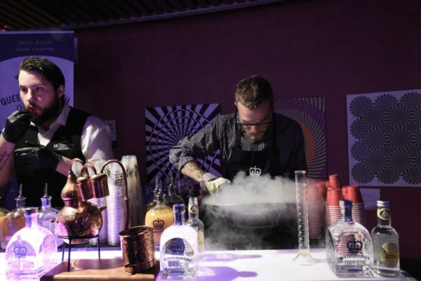 Liquid nitrogen is always a draw at Science of Cocktails. Photo by Cathy Browne.