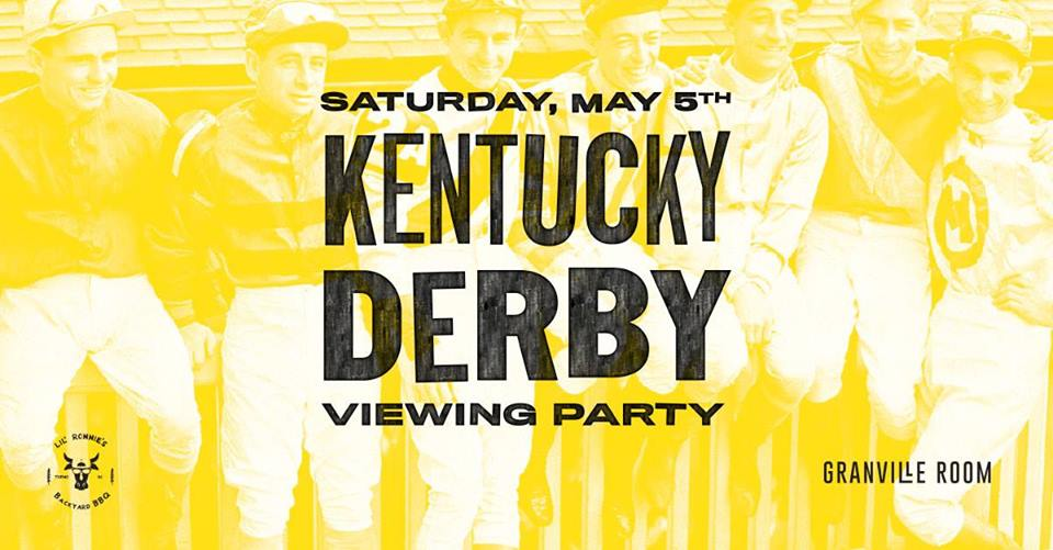 Granville Room to celebrate the Kentucky Derby with a pop-up BBQ and viewing party Granville Room to celebrate the Kentucky Derby with a pop-up BBQ and viewing party