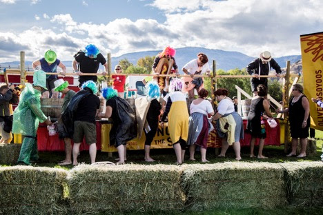 Stomp Grapes at Festival of the Grape: Oliver Osoyoos Wine Country Largest Outdoor Festival