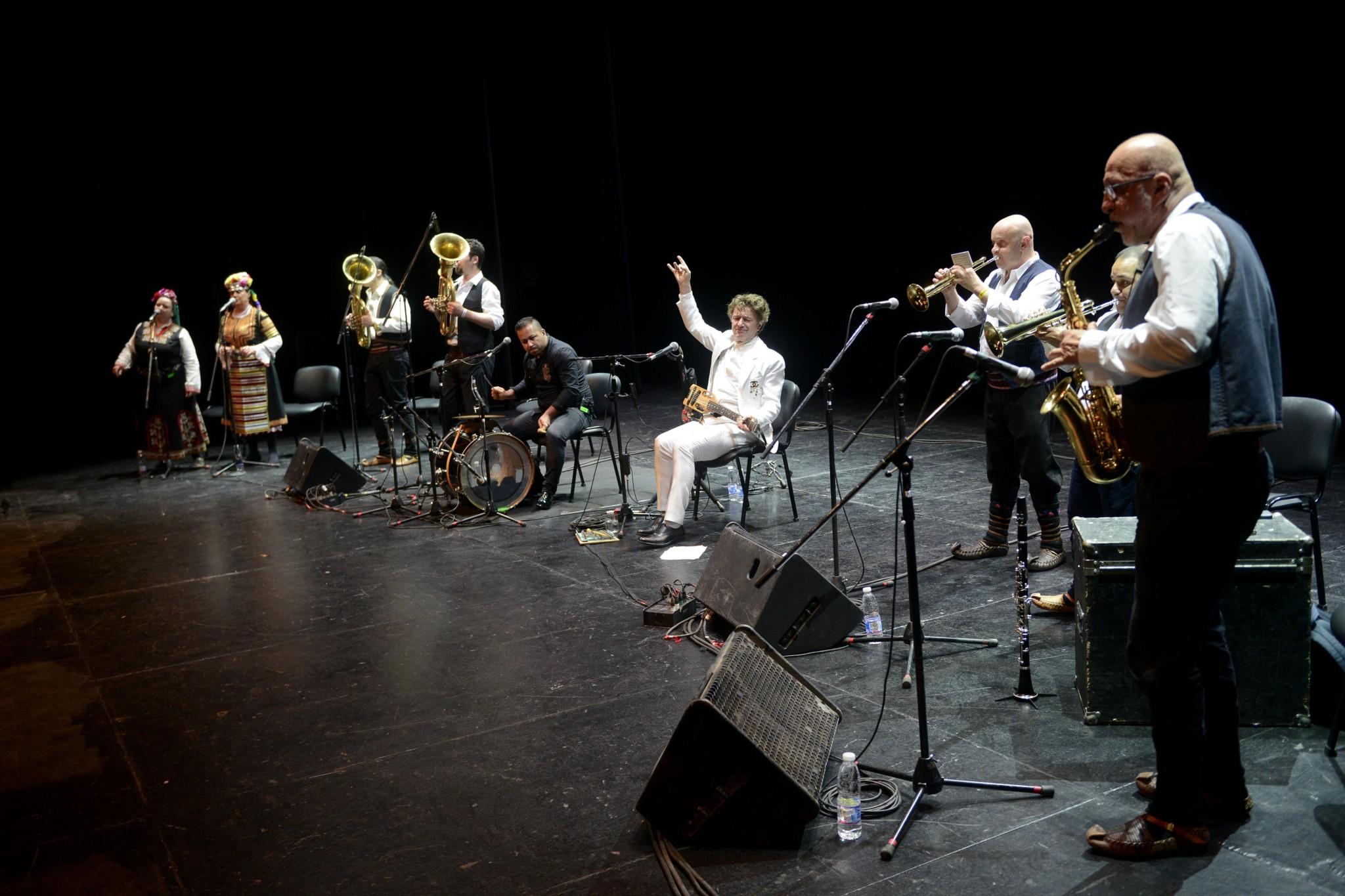 Balkan Superstar Goran Bregović Ignites the Chan Centre with Big Brass Band in Exhilarating Performance