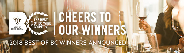 Wines of British Columbia's Best of BC Wine Country Award Winners Announced!