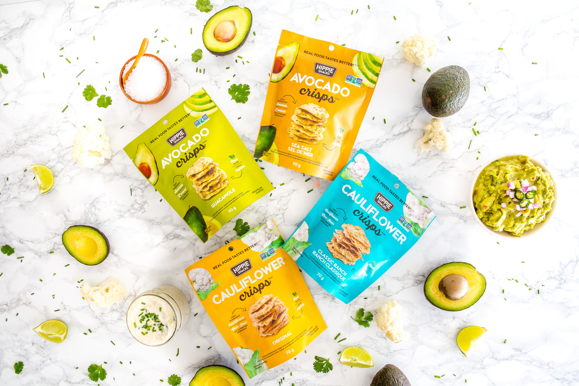 Hippie Snacks Launches New Cauliflower Crisps and Avocado Crisps Inbox x