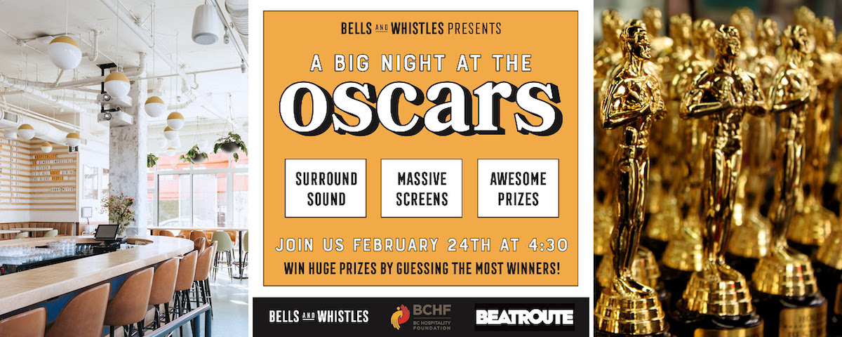 Bells and Whistles Rolls Out the Red Carpet for Live Oscars Viewing Party on February 24