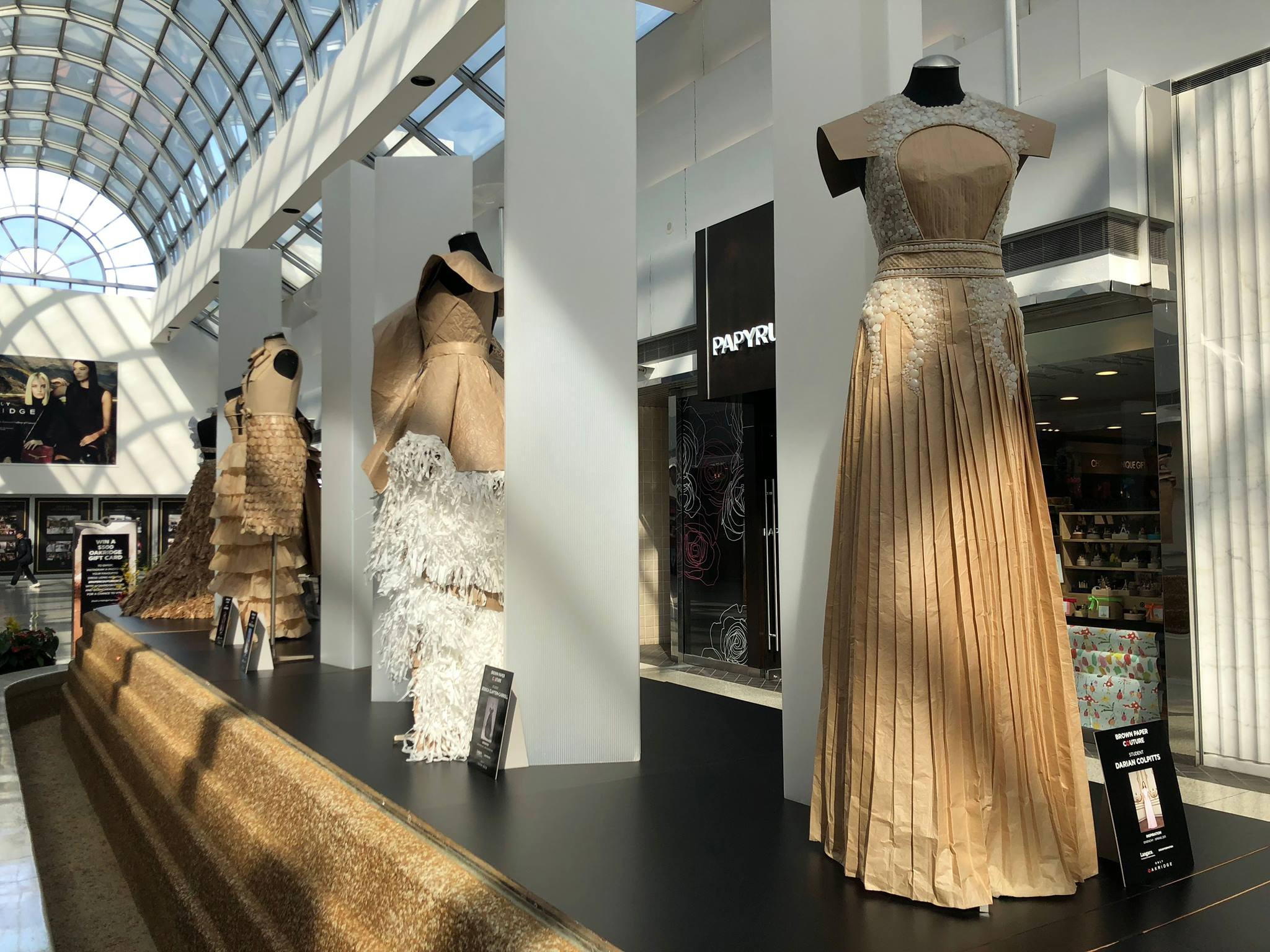 Oakridge Centre announces launch of sixth annual Paper Couture Exhibition April 24 – May 12