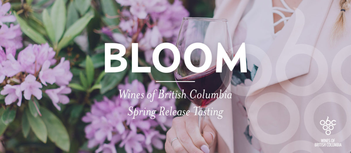 Bloom 2019 – presenting BC Wine Spring Releases
