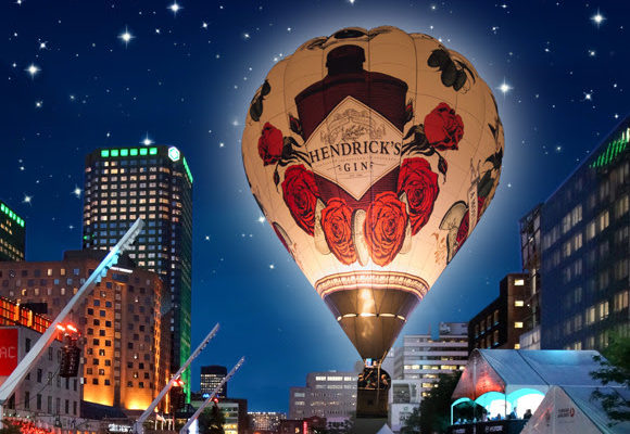The Hendrick's Gin 65-foot E.L.E.V.A.T.U.M. hot air balloon and C.O.R.G.A.N. create an unusual and whimsical spectacle of soar and score at the world's largest jazz festival.