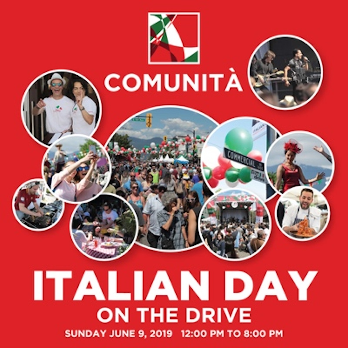 Italian Day on the Drive has Arrived! Sunday, June 9 noon – 8 pm