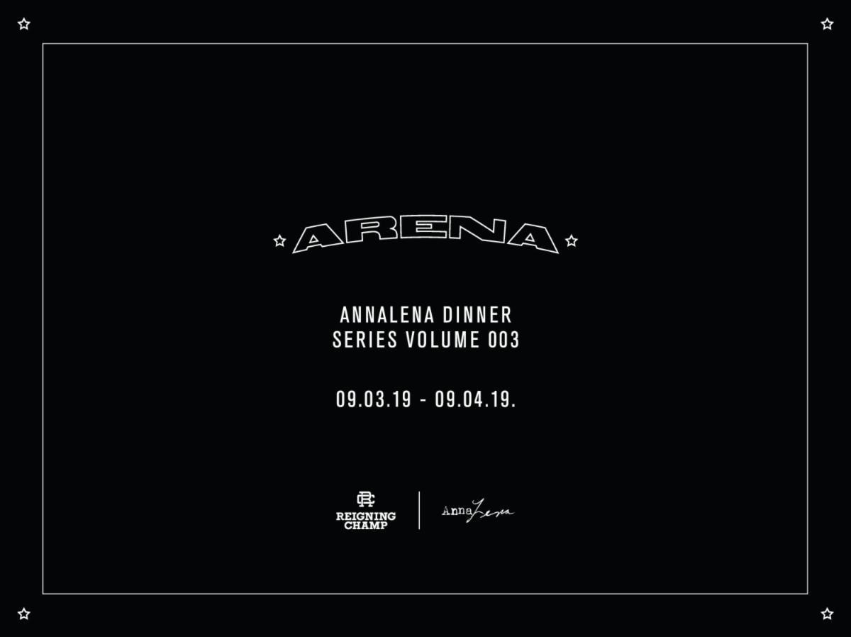Reservations Open for AnnaLena Dinner Series Volume 003: Arena ~ September 3rd & 4th