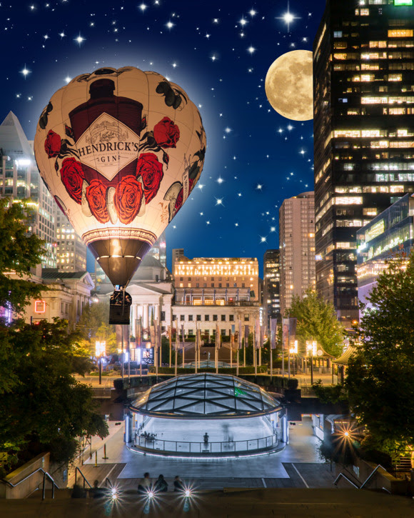 HENDRICK'S GIN PRESENTS AN OCULAR AND AUDITORY SPECTACLE AS IT OPENS ITS HISTORY-MAKING PORTAL OF PECULIARITY IN VANCOUVER AT THE INAUGURAL HONDA CELEBRATION OF LIGHT DOWNTOWN