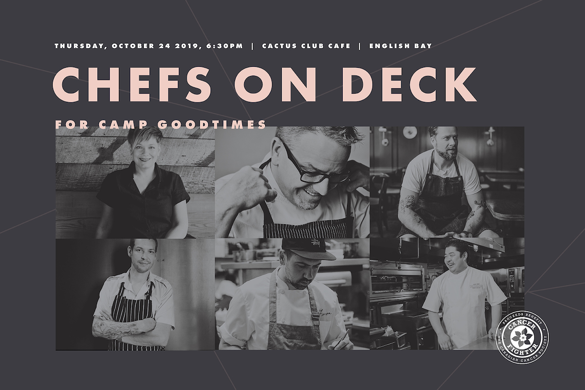 Cactus Club Cafe to host Chefs on Deck for Camp Goodtimes – October 24