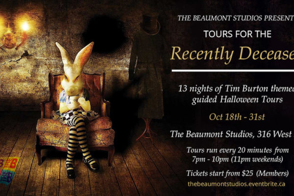 """The Beaumont Studios' """"Tours for the Recently Deceased"""" – 13 nights of interactive, darkly comedic Tim Burton-themed tours"""