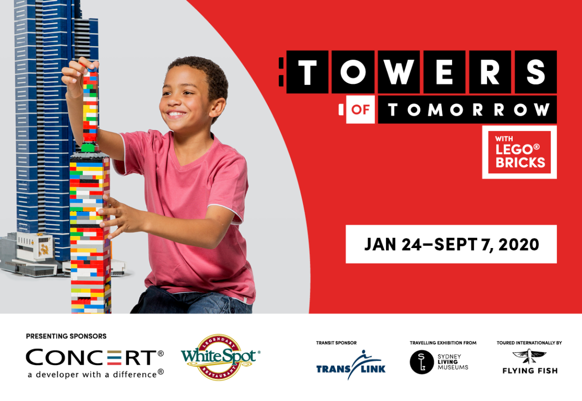 TELUS World of Science presents Towers of Tomorrow with LEGO® Bricks January 24 – September 7