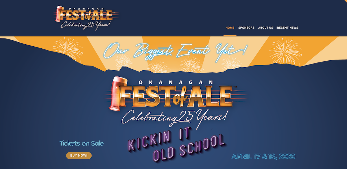 25th Annual Okanagan Fest of Ale  – Major Expansion