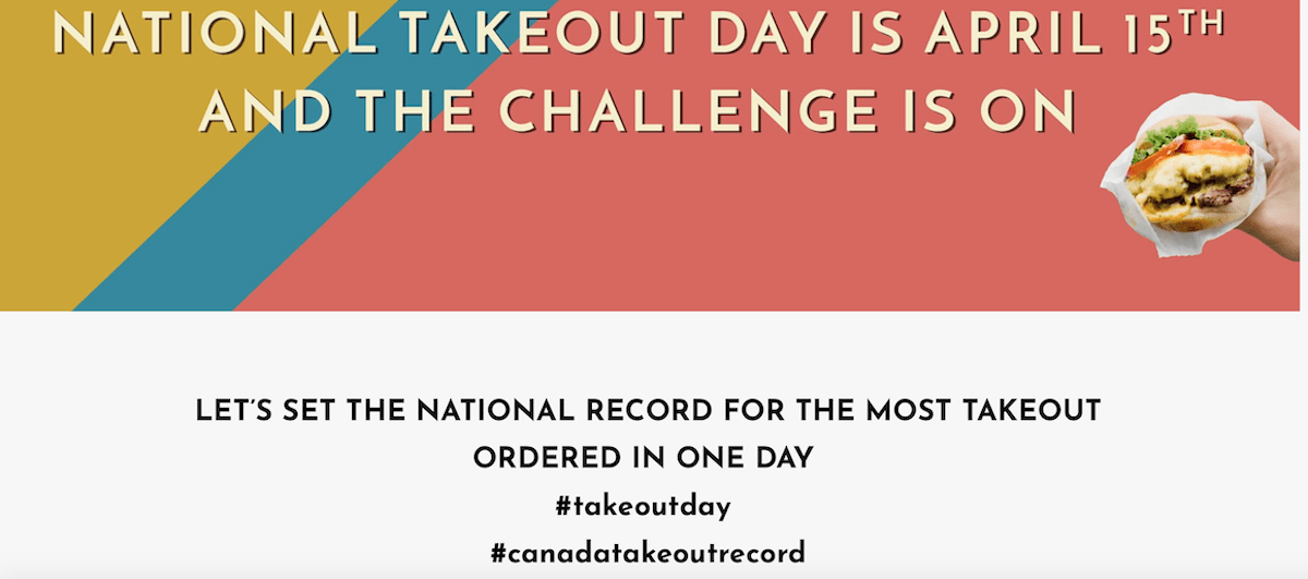 National Take-Out Day is April 15th