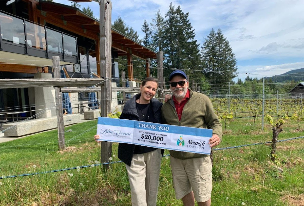 Blue Grouse Estate Winery donates $20,000 to Nourish Cowichan